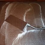 Wykładzina dywanowa podczas zbierania brudu